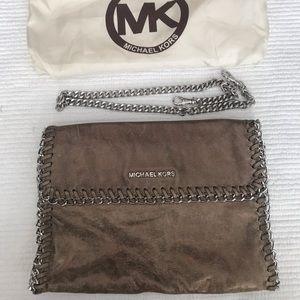 Michael Kors Chelsea Oversized Metallic Clutch!